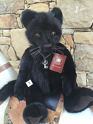 Sheba Collectable Charlie Bears Fully Jointed 49 cm Black Panther Teddy Bear