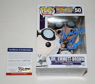 CHRISTOPHER LLOYD SIGNED AUTOGRAPHED FUNKO POP FIGURE PSA/DNA AA87736 doc brown