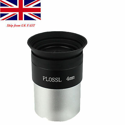 1.25 inch/31.7mm Telescope 4mm Plossl Eyepiece Lens Fully Coated Ship from Uk