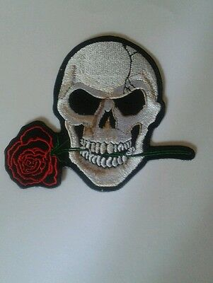 Toppe Patch Termoadesiva Harley bikers skull 10,8x9,8