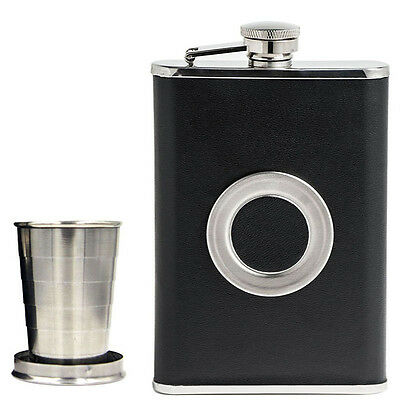 Cap With Collapsible SHOT Glass Whiskey Hip Flask Wine Pot Flagon Wine Bottle