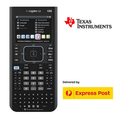 Texas Instruments TI-Nspire CX CAS Calculator Graphing + Charging Cord