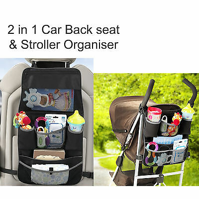 Baby Kid Pram Stroller Car Backseat Organiser Bag Storage Accessories Universal