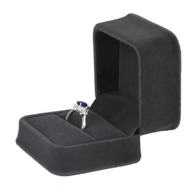 Velvet Jewelry Ring Earring Cufflink Storage Gift Box Case Container Holder