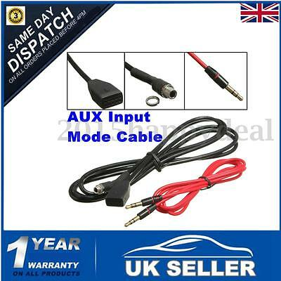Quality 3.5mm Aux In Input Adapter Radio Music MP3 Cable Female For BMW E46 UK