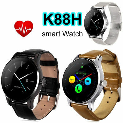 K88H MTK2502 Bluetooth Smart Watch Heart Rate Track Wristwatch LEATHER/STANSTELL