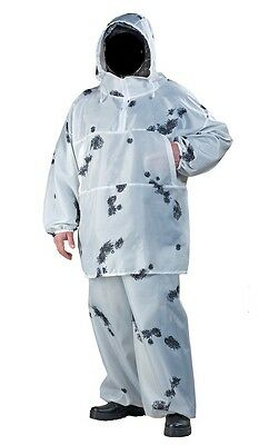White Camouflage  Snow Camo Hunting Winter Coveralls