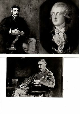 3 Black & White Postcards of Portraits in The Royal Collection. 1970's.