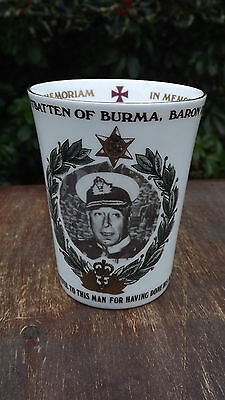 1979 Death of Lord Mountbatten In Memoriam Mug Limited Edition