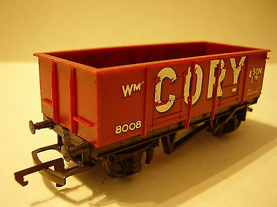 OO Triang CORY 4 Wheel Open Wagon Brown (1 of 3)