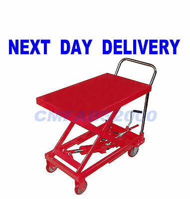 300 kg Hydraulic Platform Table, Mobile Lift Table Cart  Scissor Lift  * RED *