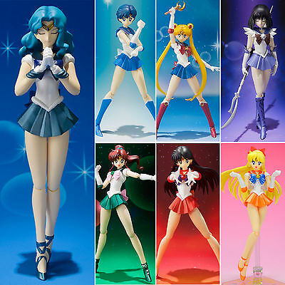"Super Sailor moon Anime Manga Figuren Figürchen Guardian Figma Set 15cm 5.9"" Neu"