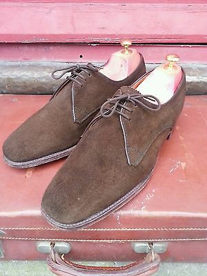 Beautiful Vintage Loake Suede Shoes Leather Quarter Lining.60's Mod Dandy.S-7.5