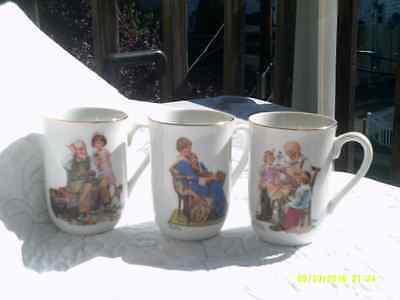 Norman Rockwell Museum Collectible Cups. 1982 Collectible Norman Rockwell. EUC