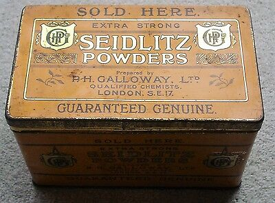 Vintage Chemists Counter Tin For 36 Extra Strong Seidlitz Powders