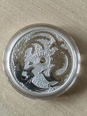 2017 1 troy ounce oz Phoenix and Dragon in coin capsule 50k mintage