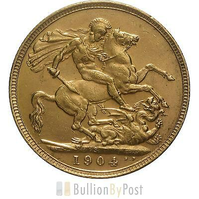 1904 Gold Sovereign - King Edward VII - S