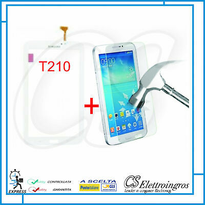 Vetro Touch Screen Bianco per SAMSUNG GALAXY TAB 3 7.0 SM T210