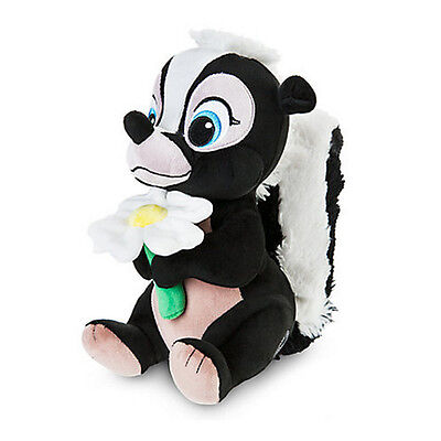 New Official Disney Bambi 23cm Flower The Skunk Soft Plush Toy