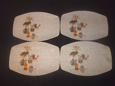 VINTAGE 1960's 4 BARBECUE PARTY HOLLYWOOD TAMCO MELMAC PLATES PLATTERS
