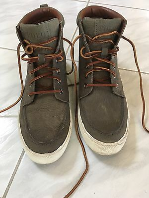 Polo Ralph Lauren Mens Nubuck Leather Casual Lace Up Boots Size US8
