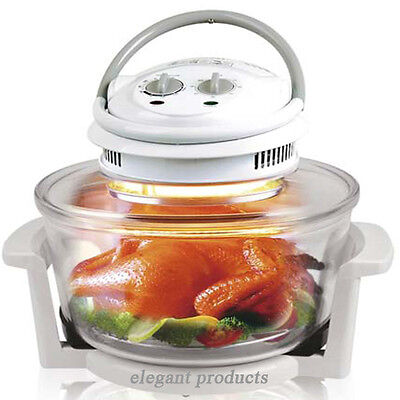 12-17 Litre White Halogen Convection Oven Cooker Free Accessories Mother's Day