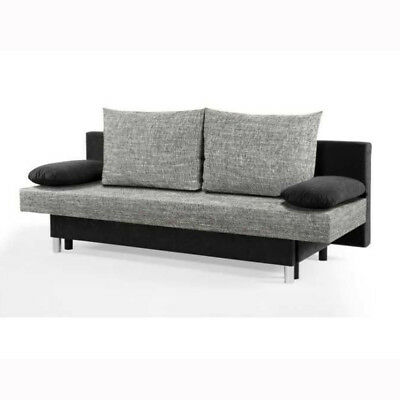 schlafsofa sonja sofa funktionssofa in schwarz und anthrazit mit topper eur 398 95 picclick de. Black Bedroom Furniture Sets. Home Design Ideas