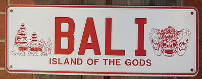 License Plate Number Plate Souvenir of BALI Island of the gods