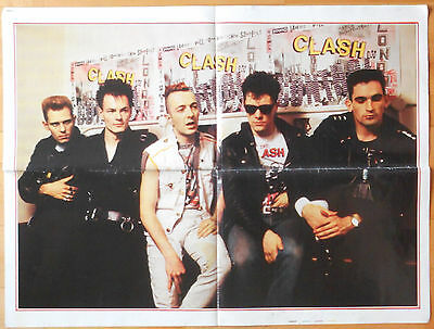 Clash Nena Poster On Two Sides Vintage Rare Yugoslavia