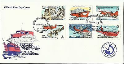 British Antarctic Territory/Old and New Transportation; FDC 1994