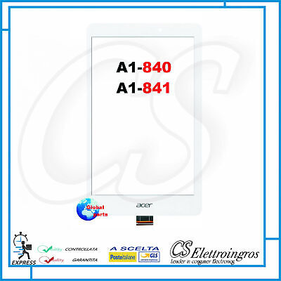 Vetro TOUCH screen Bianco ACER Iconia 8' A1 840 A1 841