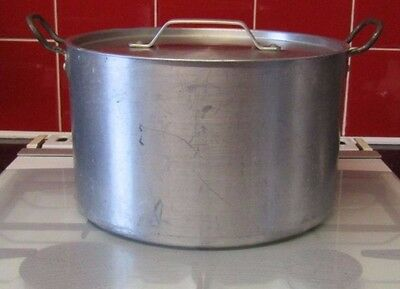 Large 11L 28 x 18 Aluminium Handled Lidded Cooking Stock Stew Soup Catering Pot