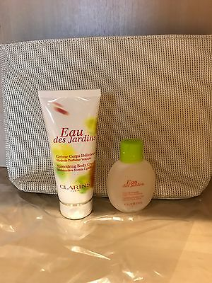 Clarins Gift Set Eau De Jardins Body Care Collection -Clarins Bag& Products NEW!