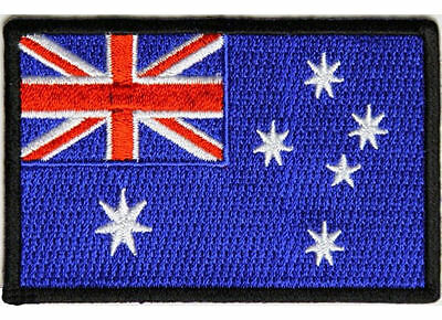 Embroidered Iron Or Sew On Biker Patch Badge~ Australian Flag
