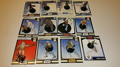 Star Wars Miniatures Fringe Lot 12 Different miniatures see pics cards included
