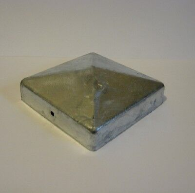 """10 x 75mm Galvinised Metal Post Caps for 3"""" (75mm) Posts"""