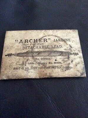 Vintage Archer Fishing Lead In Its Packet.