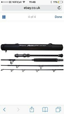 Shakespeare Agility EXP 4-Piece Travel Boat Rods 20-30lb