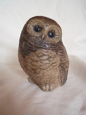 Sweet Small Vintage Poole Stoneware Figure Of An Owlet/owl Chick-B.linley-Adams