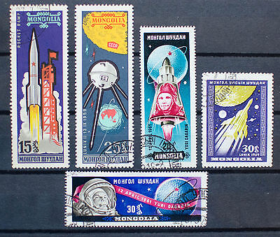 Mongolia Space Stamps