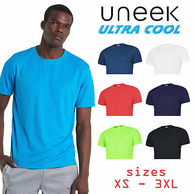 UNEEK Mens Ultra Cool T Shirt Gym Running Leisure Sports Tee Casual Work UC315