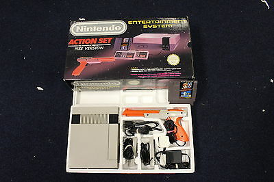 Nintendo NES UK PAL Action Set Console - BOXED IN GOOD CLEAN CONDITION snes