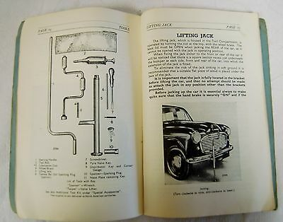 Vintage Hillman Mark Vii Handbook 1954 With Fold Out Diagram