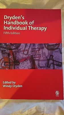 Dryden's Handbook of Individual Therapy Book Fifth Edition NEW Never Used