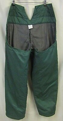 STIHL Protective Trousers Green Size L XL Seatless Chainsaw Use Chaps VGC