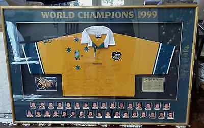 Wallabies 1999 Rugby World Cup Champions Commenorative Rugby Final Signed Jersey