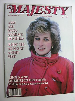 MAJESTY MAGAZINE Vol 5 No 11 March 1985 Anne & Diana, Princess Margaret Recovers