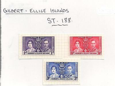 ST-188.  3.Stamps.  Gilbert and Ellice Islands.