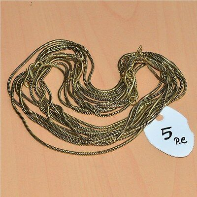 """Wholesale 5Pc Solid Brass Plain Nice Long Chain Necklace Jewelry Lot L-20"""""""