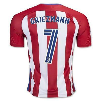 Atletico Madrid GRIEZMANN 7 Soccer Home Jersey for US size L